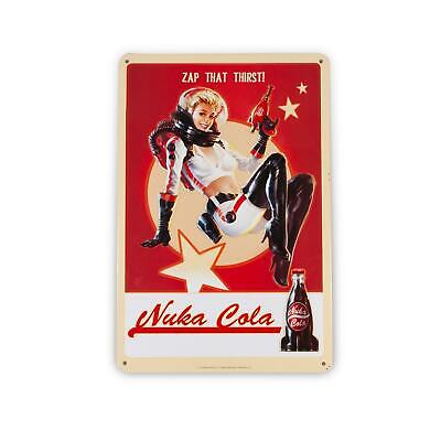 fallout 76 nuka cola girl metal sign