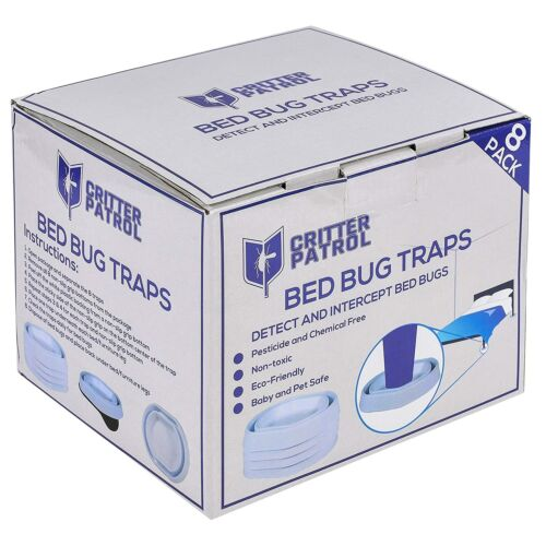 Bed Bug Traps 8 Pack Detect and Intercept Bed Bugs Non-Slip Grip