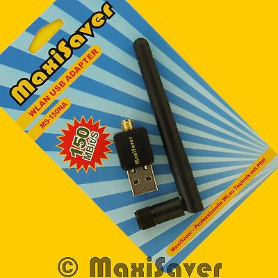 Wlan Wifi USB Stick auch für Raspberry Pi - RT5370 IEEE802.11b/g/n + Antenne SMA