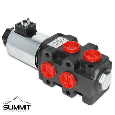 Hydraulic Solenoid Selector Diverter Valve 24 Gpm 12v Dc