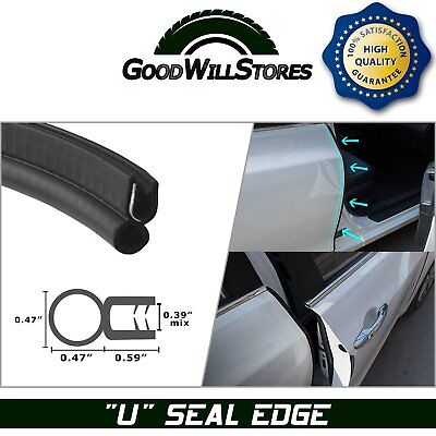 Rubber Seal Car Parts Accessory Door Edge Soundproof Replace Metal Trim 36