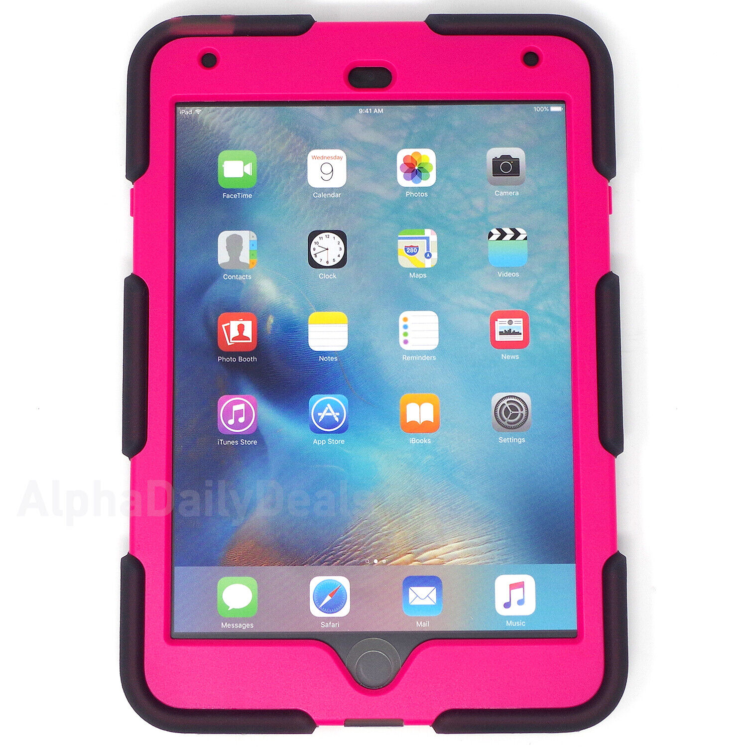 Griffin, iPad mini 4 Case with Stand, Smoke and Pink Survivo