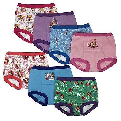 Disney Princess Girls Potty Training Pants Panties 7-pack Underwear ()