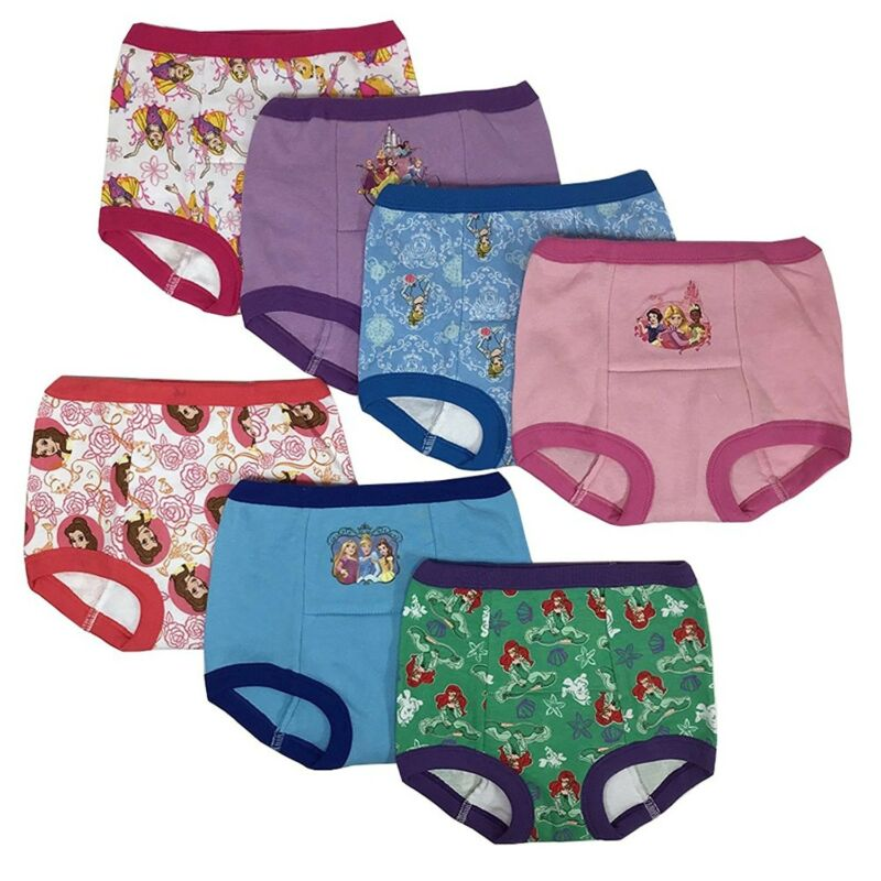Disney Princess Girls Potty Training Pants Panties 7-pack Underwear