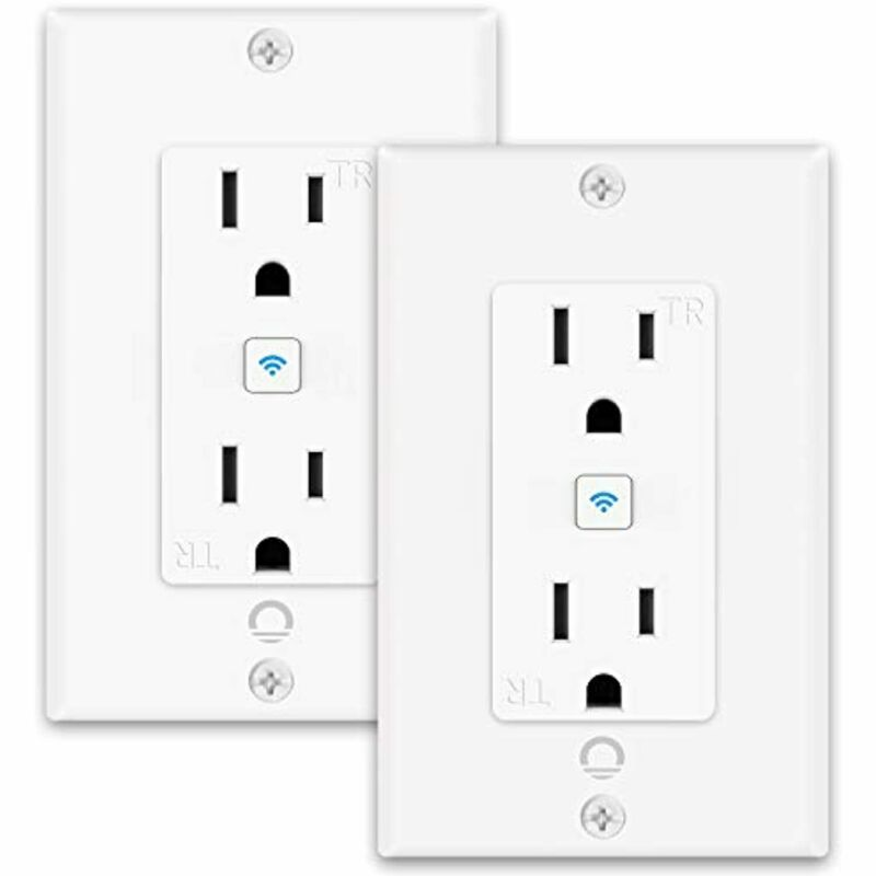 Smart Outlet,Lumary Smart Outlet in Wall Works with Alexa & Google Assistant,15