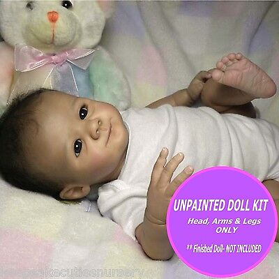 REBORN BABY VINYL KIT,  parts only soft vinyl to make A reborn doll FREE GIFT