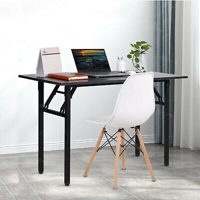 120*60 cm Black Foldable Computer Desk Folding Study Coffee Table Home Office...