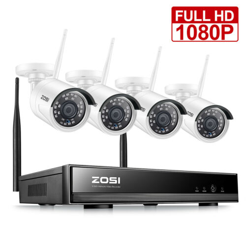 ZOSI 8CH H.265 Wireless 1080P NVR Outdoor Home WIFI Camera C