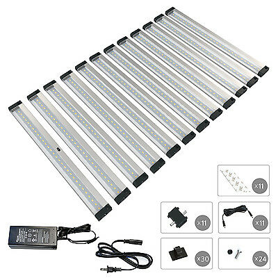 EShine 12 Panels 12 inch LED Dimmable Under Cabinet Lighting Kit - Warm (12 Inch Under Cabinet)