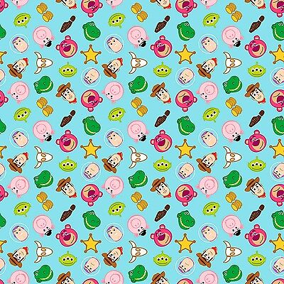 Disney Emojiland Toy Story Character Toss 100% Cotton Fabric by the yard