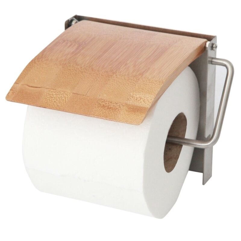 ToiletTree Products 100% Wooden Bamboo Deluxe Toilet Paper Holder