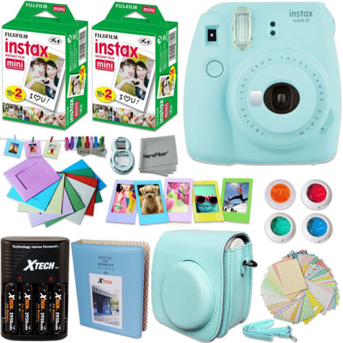 FujiFilm Instax Mini 8 Camera BLUE Accessories KIT for