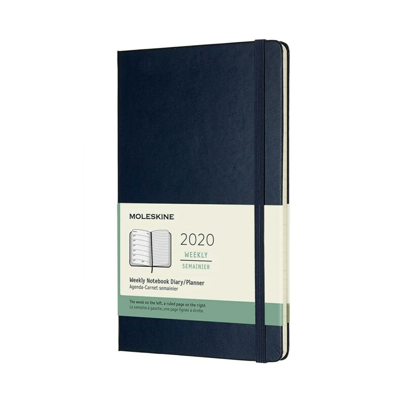 "Moleskine 2020 Weekly Semainier Notebook Hard Cover 5"" x 8.25"" 24390668"