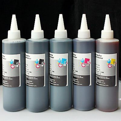 Bulk Universal 5x250ml refill ink for HP Canon Epson Brother Lexmark Dell Print