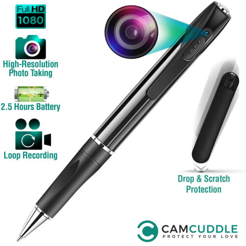Spy Hidden Camera Pen Recorder 1080P HD Security Mini Portable Pocket Body Cam
