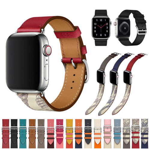 For Apple Watch Series 5 4 3 2 1 Genuine Leather Band Strap