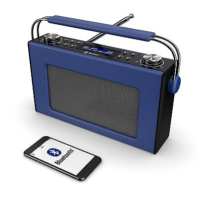 Cottenham Digital DAB+ / DAB FM Portable Radio Bluetooth Leather Effect Finish