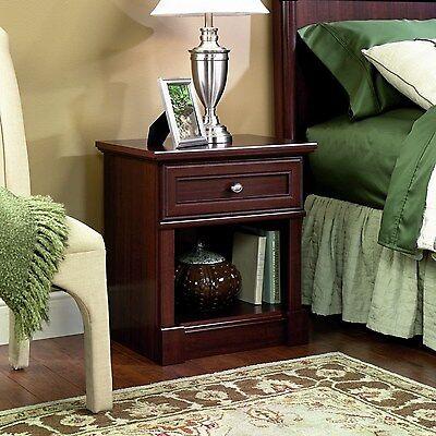 منضدة جانب السرير جديد Sauder Palladia Night Lamp Stand Bedside Table Cherry Finish Bedroom Furniture