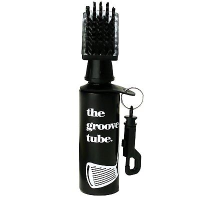 Groove Tube Golf Club Cleaner Brush Squeeze Bottle w/ Nylon Bristles and - Club Cleaner