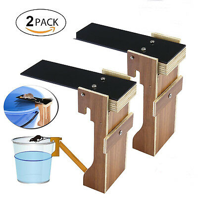 2 PACK Original Walk The Plank Mouse Trap Auto Reset Live Catch Rat Trap