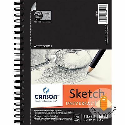 "SKETCH BOOK 5.5""X8.5"" Drawing Paper Art Notebook Quality Sketchbook 100 SHEETS"