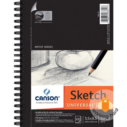 Canson 100% Recycled Heavyweight Sketch Pad 5 1/2 in. x 8 1/