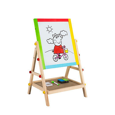 Kids 3 In 1 Art Easel Standing Chalkboard Drawing Blackboard Painting - Kids Painting Easel