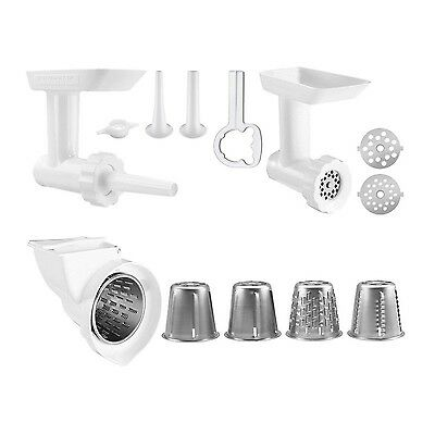 KitchenAid Stand Mixer Attachment Food Grinder Rotor Slicer Shredder Stuffer New