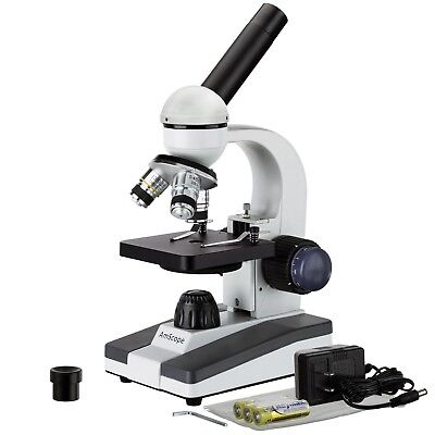 Amscope 40x-1000x All-metal Optical Lens Compound Microscope Student Home School