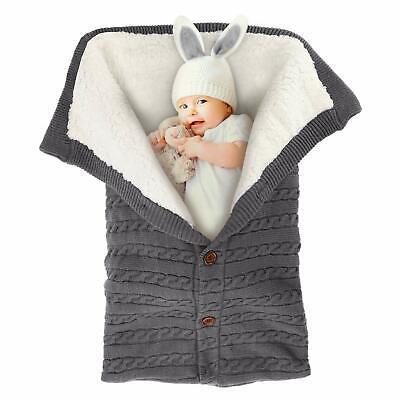 Newborn Infant Nursery Swaddle Blanket  Soft Knitted Fleece Strolers or Car -