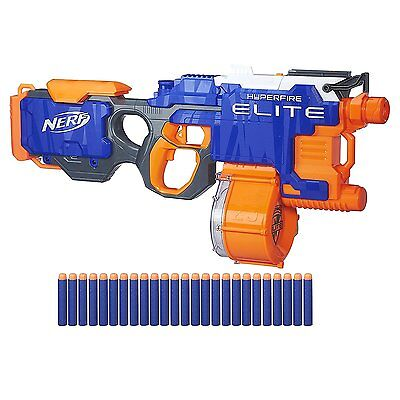 Nerf N Strike Elite HyperFire Blaster Kids Fun Game Dart Gun TOY GUN Gift NEW