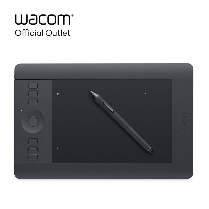 Refurbished Wacom Intuos Pro Small Pen and Touch Graphic Drawing Tablet