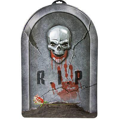 Grabstein RIP Horror Skelett Halloween Dekoration Neu & OVP