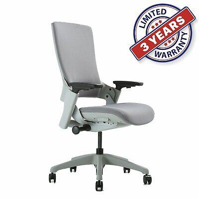 Adjustable Height Ergonomic Executive Office Chair Upholstered Back Desk Chiars