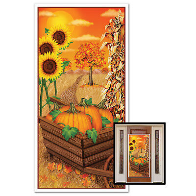 Fall Party Decorations (FALL Leaves Autumn Harvest Cornstalk THANKSGIVING Party Decoration DOOR)