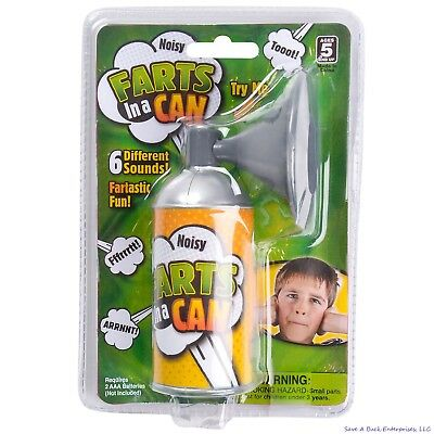 FARTS IN A CAN -  6 different sounds - Gag Prank Joke Machine Pooter Noise Horn