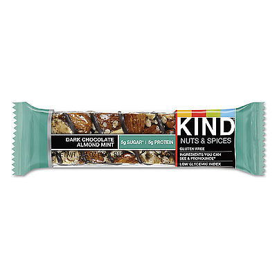 KIND Nuts and Spices Bar Dark Chocolate Almond Mint 1.4 oz Bar 12/Box 19988 Almond Mint Candy