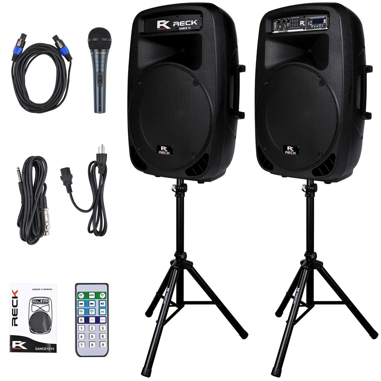 Reck Audio Dance 15 Portable 15-Inch 2000 Watt 2-Way Powered
