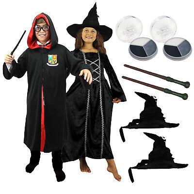 KINDER PAAR HEXE ZAUBER VERKLEIDUNG FASCHING KARNEVAL KOSTÜM HALLOWEEN BUCHWOCHE (Hexe Paar Kostüme)