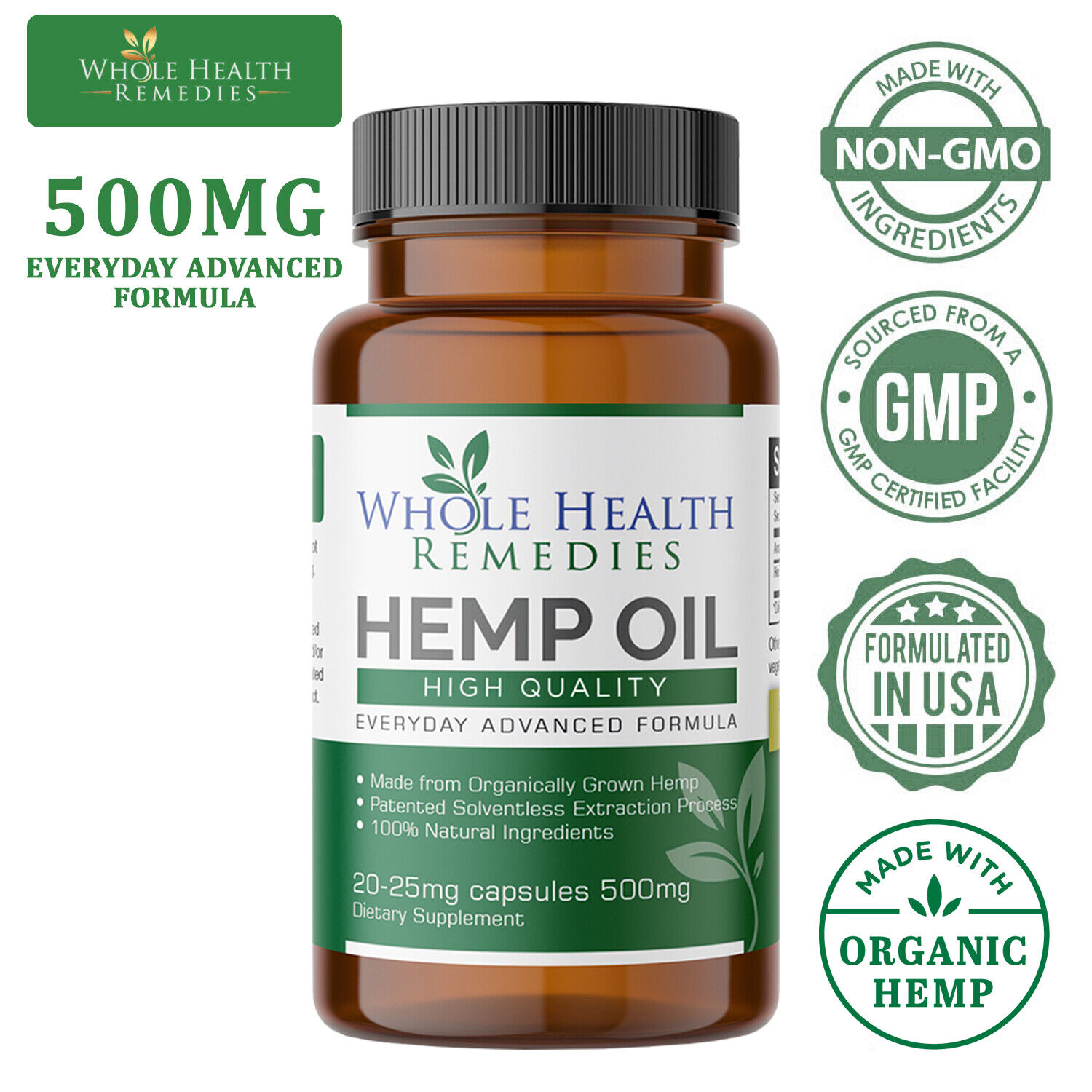Pharmaceutical-Grade Hemp Oil Capsules for Pain & Stress Relief and Insomnia 6