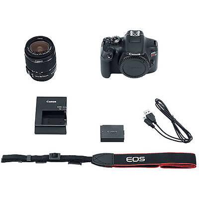 Canon DS126621 EOS Rebel T6 18MP Digital SLR Camera Kit with 18-55mm Lens, Black