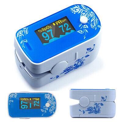 Fingertip Pulse Oximeter Blood Pressure Heart Rate Monitor Digital Saturation