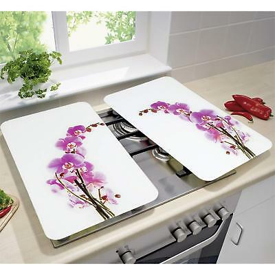 Herdabdeckplatten  Universal Orchideenblüte Glaskeramik-Kochfeld Spritzschutz