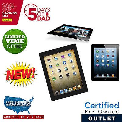 New Apple iPad 2 16GB Black WiFi +3G AT&T with 1 Year Warranty