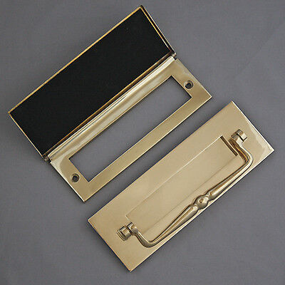 Traditional Brass Letterbox & Tidy