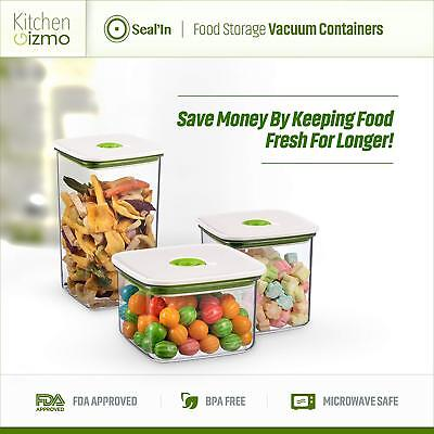 NEW Seal'In Food Storage Vacuum Containers with