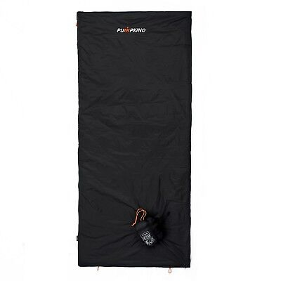 Black XL Ultralight Sleeping Bag for Backpacking in Hot Weather 3 Season 1.4Lbs ()