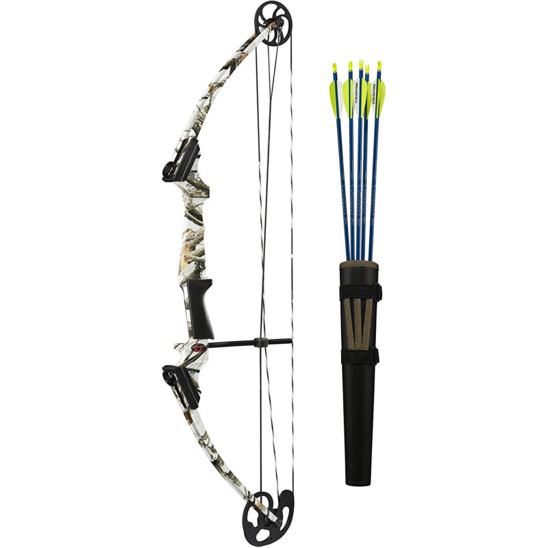 Genesis Archery 12266 White Camo Original Compound Target Bow Kit, Right Handed