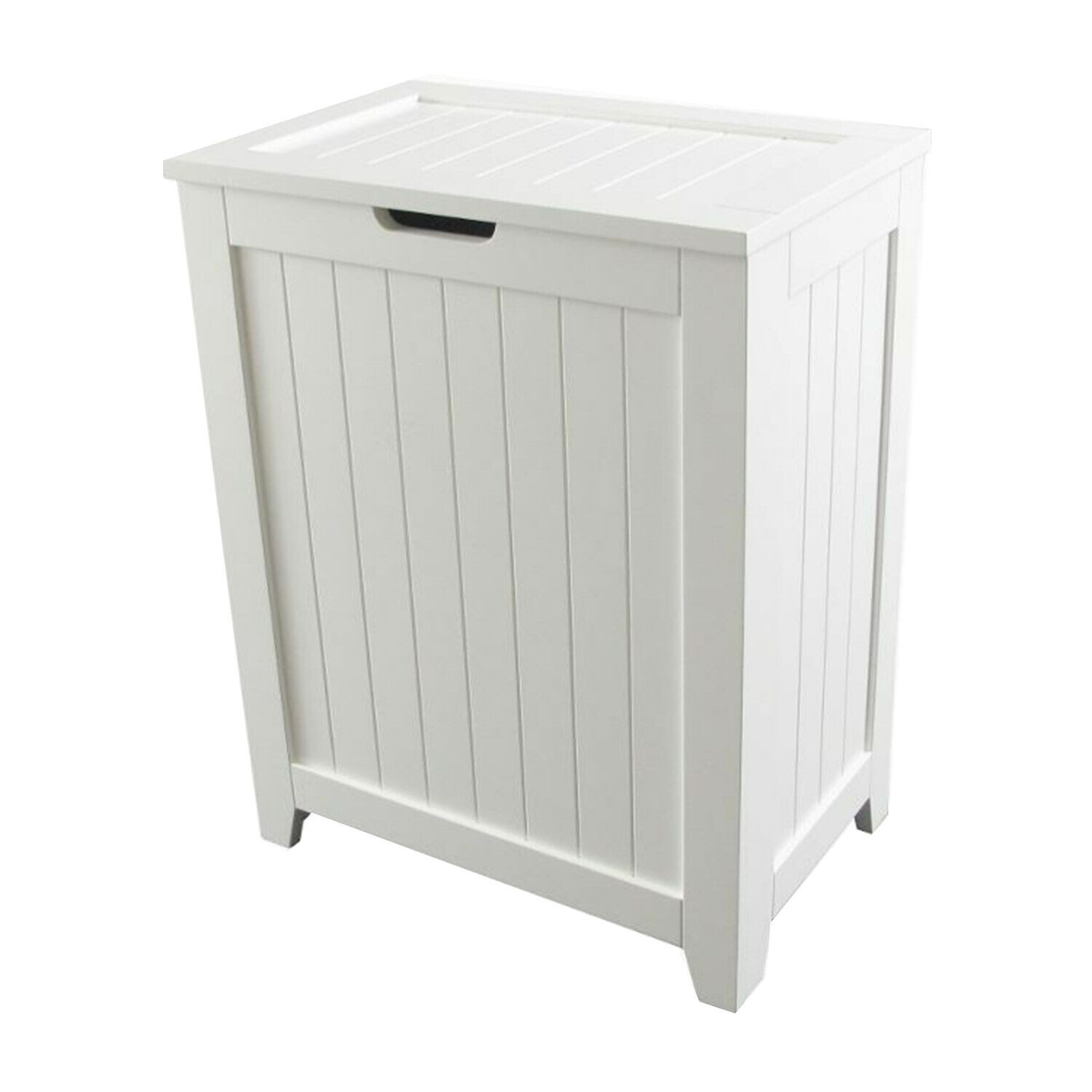 Laundry Hamper With Lid Wood Clothes Storage Bin Bathroom Or