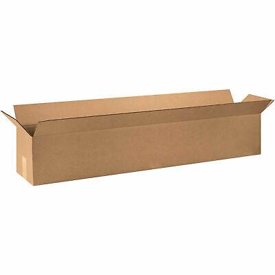 48 X 10 X 10 Long Corrugated Boxes 65 Lbs Capacity 200ect-32 Kraft Lot